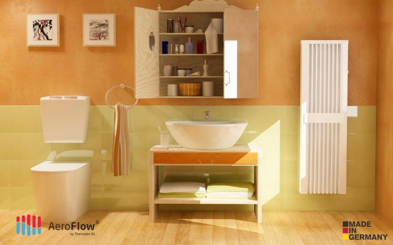 Elektrické topení do koupelny AeroFlow SLIM TALL 1600 W