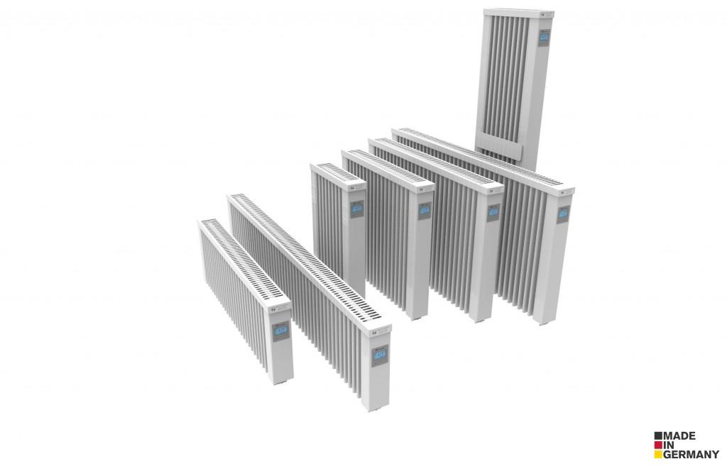 Topné panely AeroFlow - porovnání velikostí